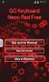 GO Keyboard Neon Red Free - Imagen 3