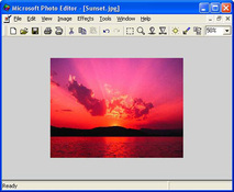 Imagen Microsoft Photo Editor 3.01