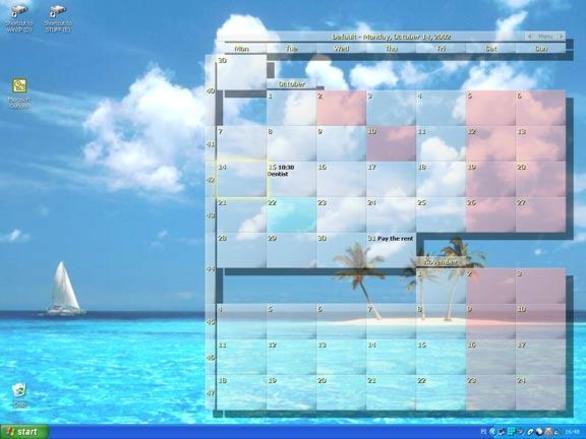 Wallpaper Calendar By Zepsoft : Desktop wallpaper calendar descargar