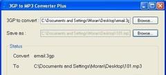 Imagen 3GP to MP3 Converter 3.2