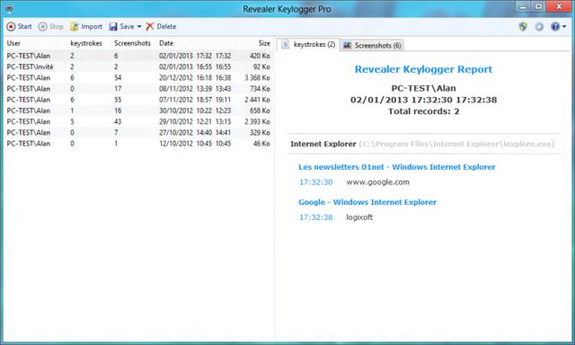 revealer keylogger free 2.07