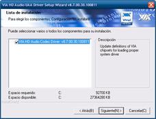 Imagen Via HD Audio Driver 10.1200A