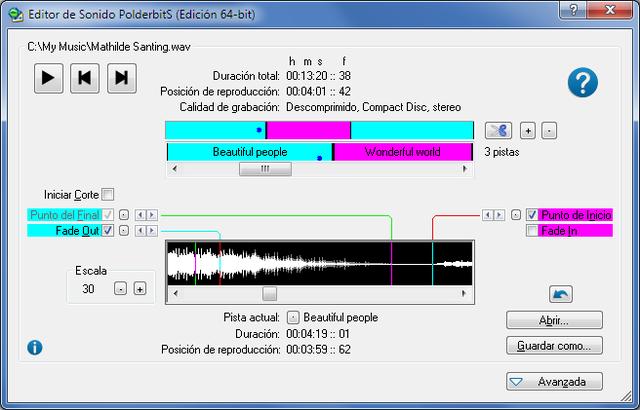 grabador y editor de sonido polderbits 4.0 full