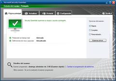 Imagen Microsoft Security Essentials para Windows XP 4.8.204.0