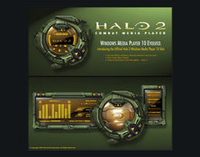 Imagen Halo 2 Skin para Windows Media Player 10