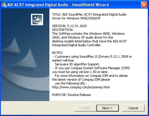 descargar controlador de audio para win xp
