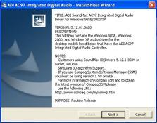 Imagen ADI SoundMax AC97 Integrated 5.12.01.3620