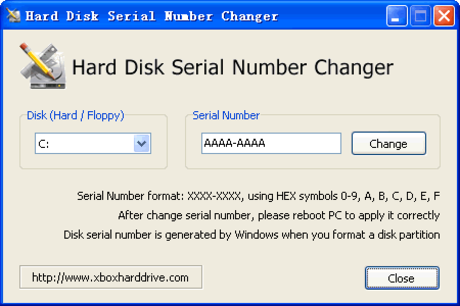 Hard Disk Serial Number Changer - Descargar