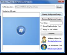 Imagen Windows 7 Folder Background Changer 1.1
