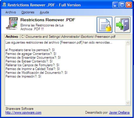 how to remove pdf restrictions