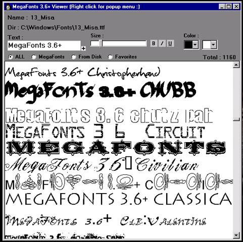 megafonts 3