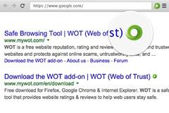 Imagen WOT (Web of Trust) 1.3.1 Google Chrome