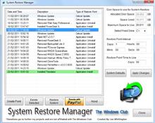 Imagen System Restore Manager 1.0